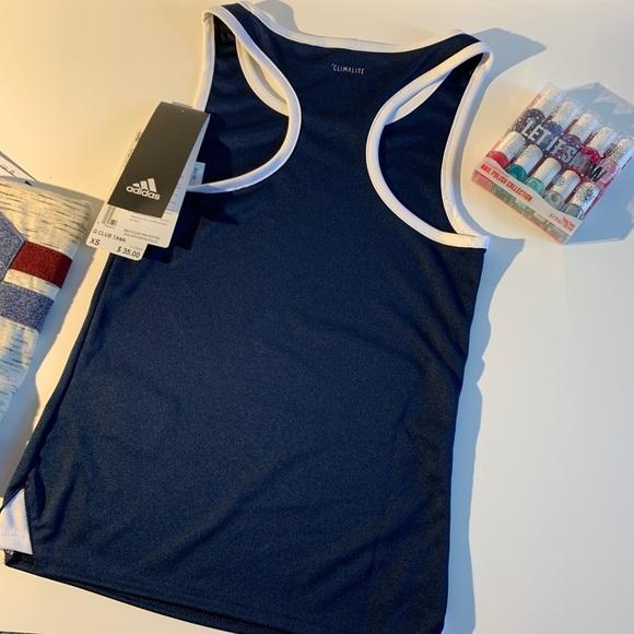 Girls Adidas blue tank top